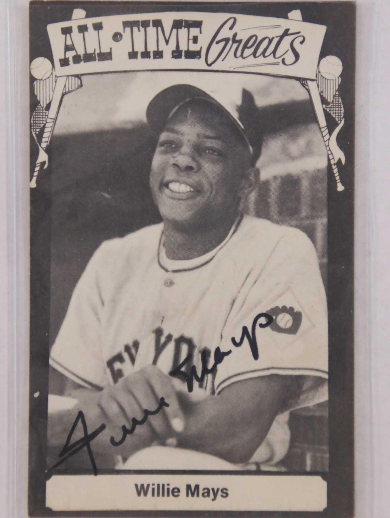 Auctionaacsautographscom Willie Mays Autographed Vintage