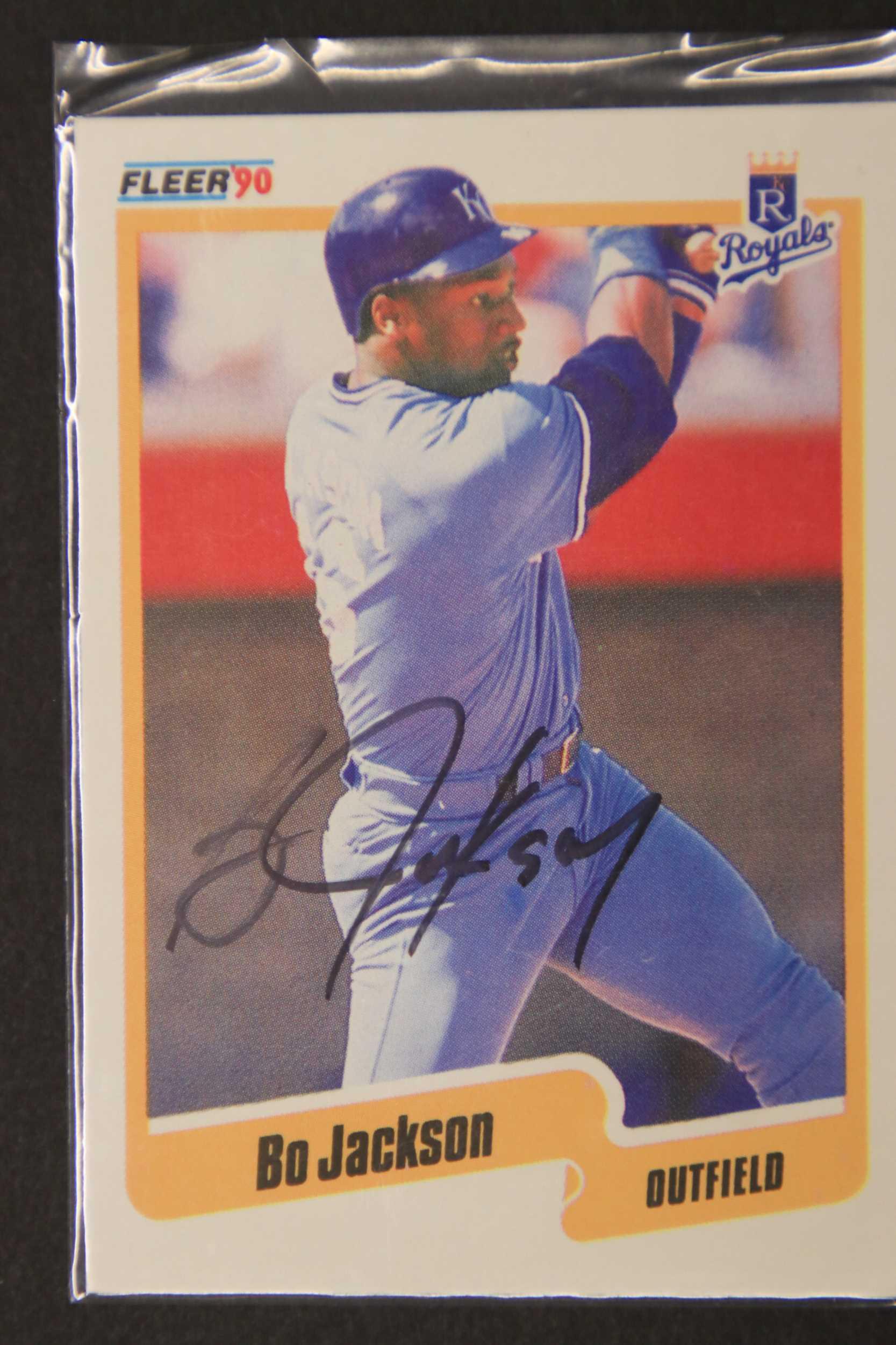 Aacs Autographs Bo Jackson Autographed 1990 Fleer Baseball