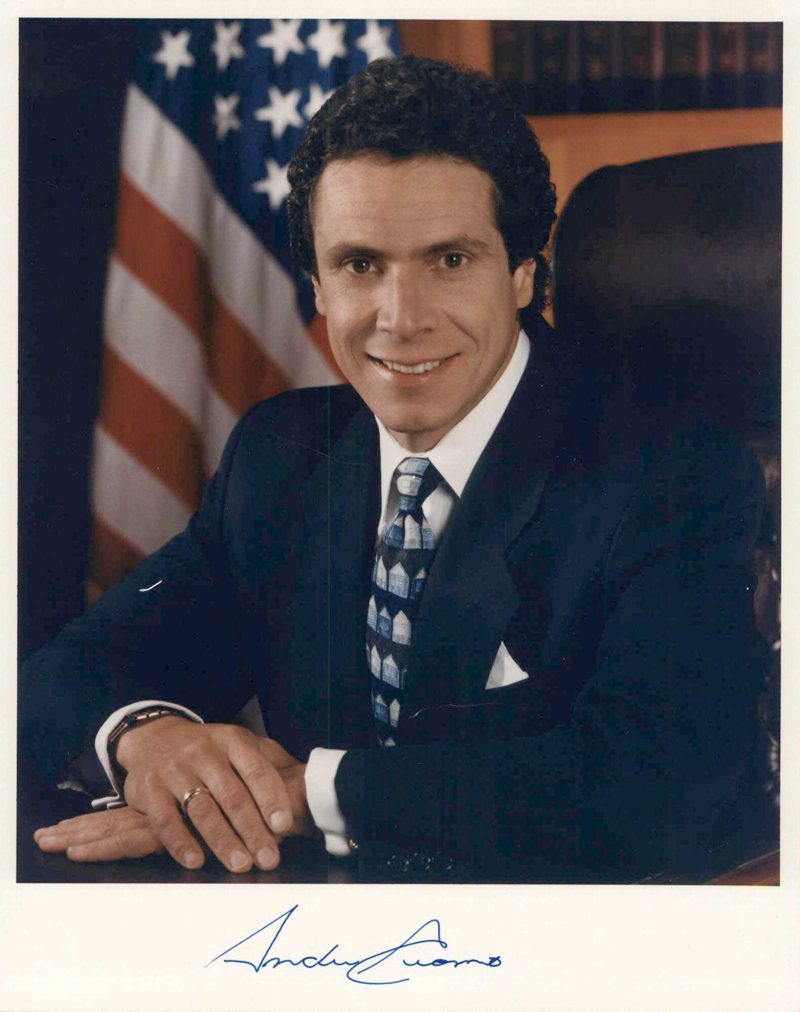 Aacs Autographs Andrew Cuomo Autographed Glossy 8x10 Photo