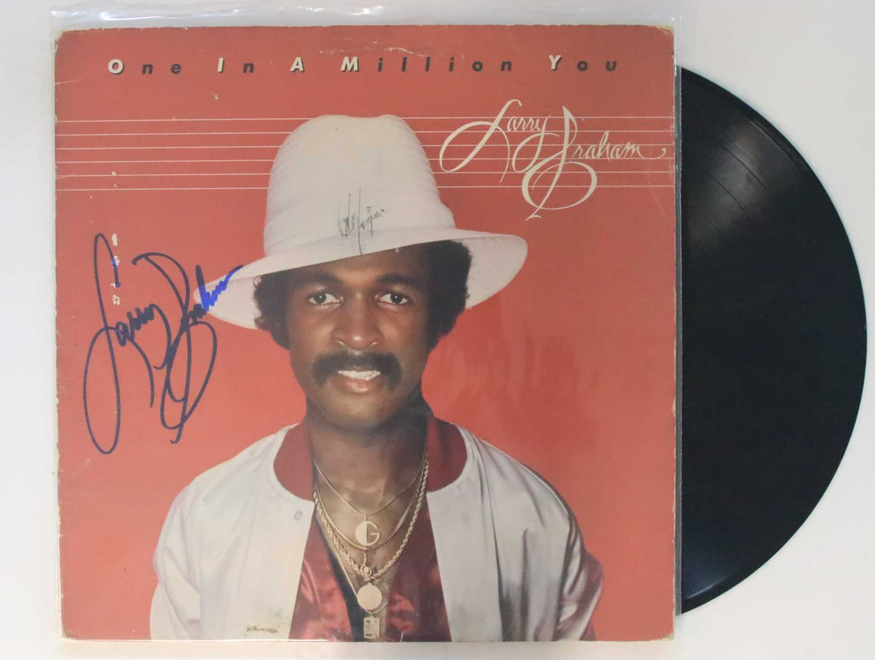 Larry Graham Signed Autographed One In a Million You Record Album w Proof Photo