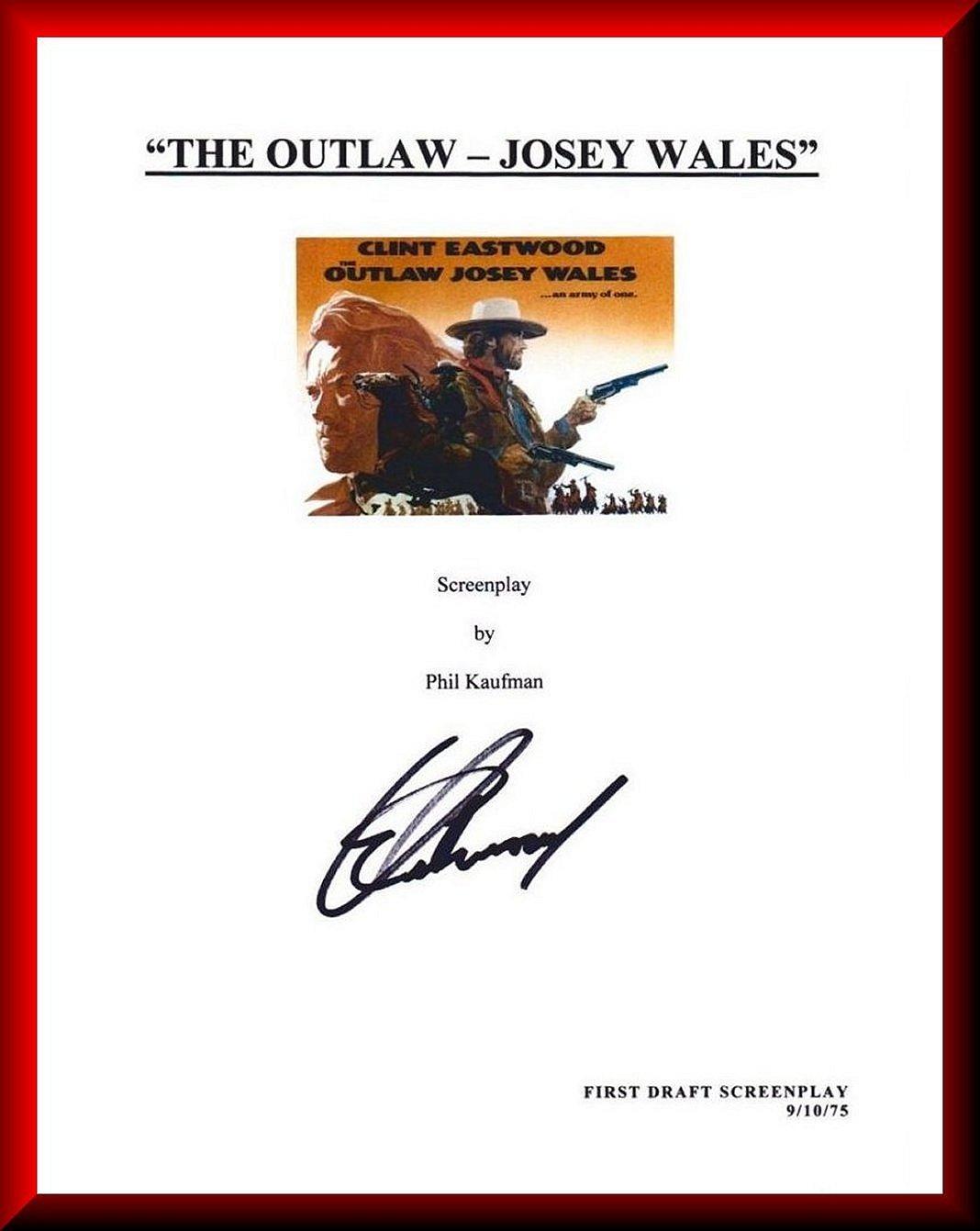 AACS Autographs: Clint Eastwood Autographed