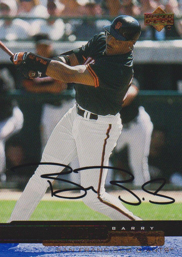 Aacs Autographs Barry Bonds Autographed 2000 Upper Deck Baseball