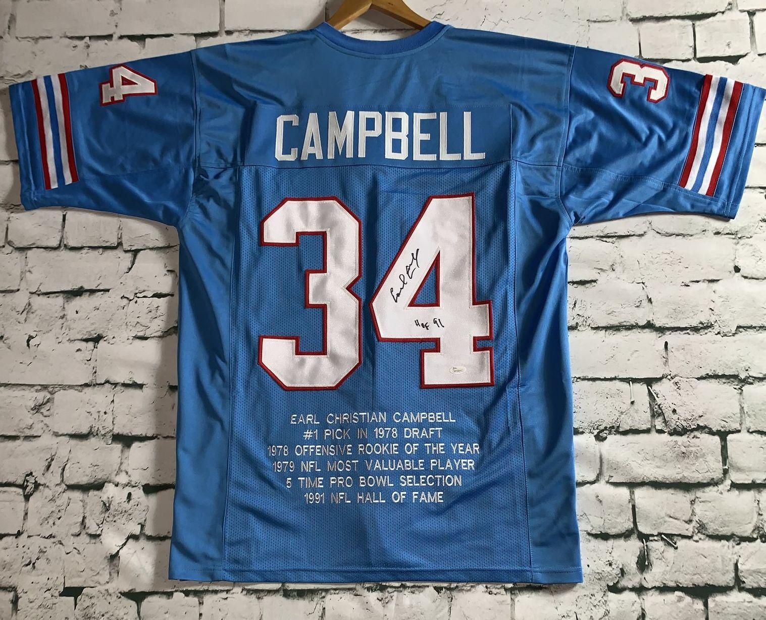 new product e5a41 1de62 AACS Autographs: Earl Campbell Autographed